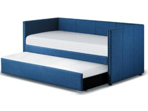 Therese Blue Daybed With Trundle