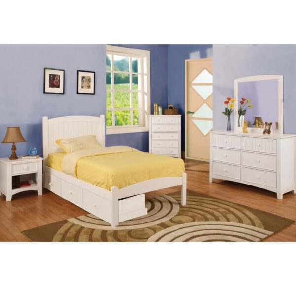 Caren White Bedroom Collection FOA 7902WH
