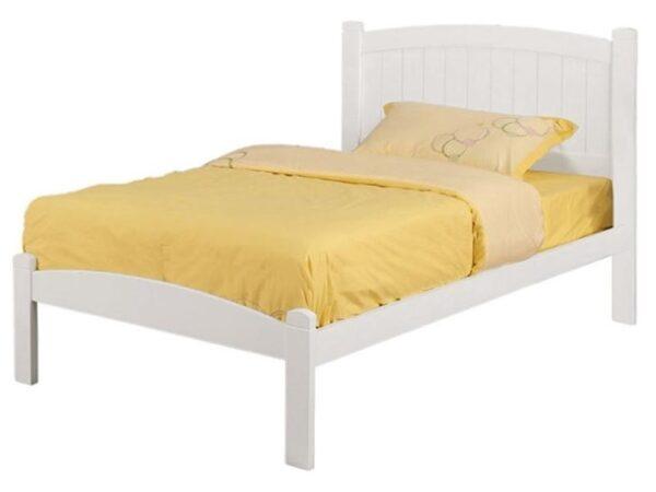 Caren White Platform Bed FOA 7902WH