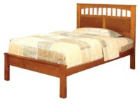 Carus Oak Platform Bed FOA CM7904OAK