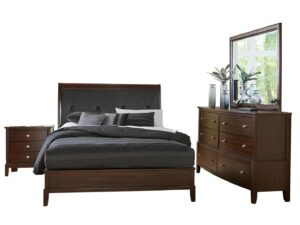 Cotterill Cherry 4-Piece Bedroom Set