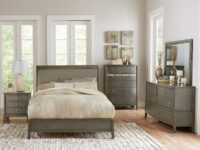 Cotterill Gray 4-Piece Bedroom Set (Room View)