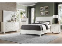 Cotterill White 4-Piece Bedroom Set (Room View)