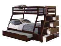 Jason Twin Over Full Staircase Bunk Bed With Trundle A 37015