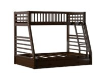 Ogletown Espresso Twin Over Full Bunk Bed With Drawers (Solo View) A 02020