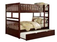 Rowe Cherry Full Over Full Bunk Bed With Trundle AGA B2013FFDC-R