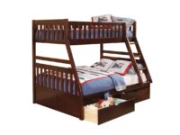 Rowe Cherry Twin Over Full Bunk Bed With Drawers AGA B2013TFDC-1-T