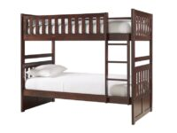 Rowe Dark Cherry Twin Over Twin Bunk Bed AGA B2013DC-1