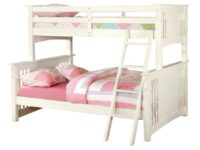 Spring Creek White Twin Over Full Bunk Bed FOA CM-BK602F-WH