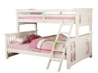 Spring Creek White Twin XL Over Queen Bunk Bed FOA CM-BK604-WH