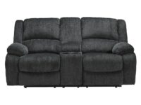 Draycoll Slate Recliner Loveseat With Console ASLY 7650494