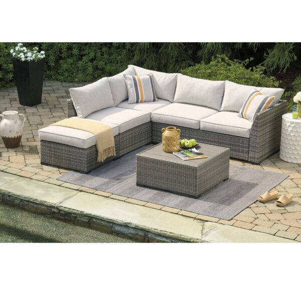 Cherry Point 4-Piece Outdoor Sectional Set (Room View)