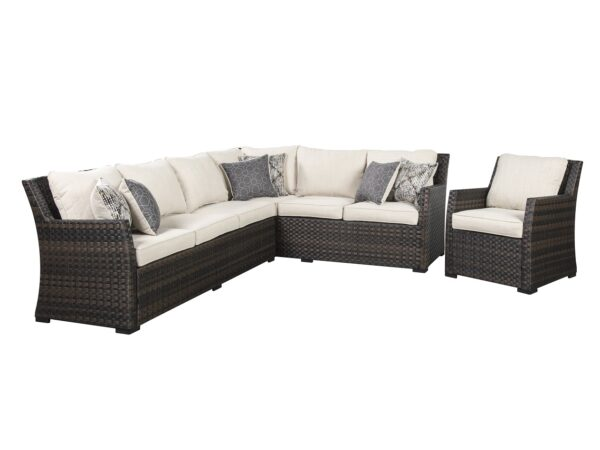 Easy Isle Sectional and Chair Set ASLY P455-822-820