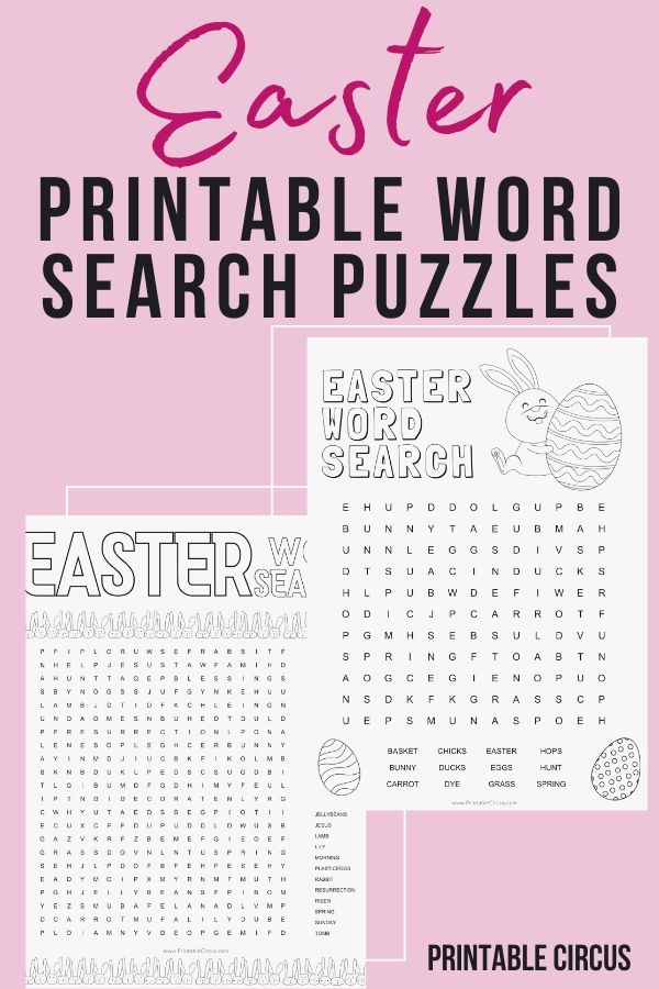 Download and print these FREE printable Easter word search puzzles. They're in PDF form so you can play and enjoy right away. Fun printable word find games for Easter.