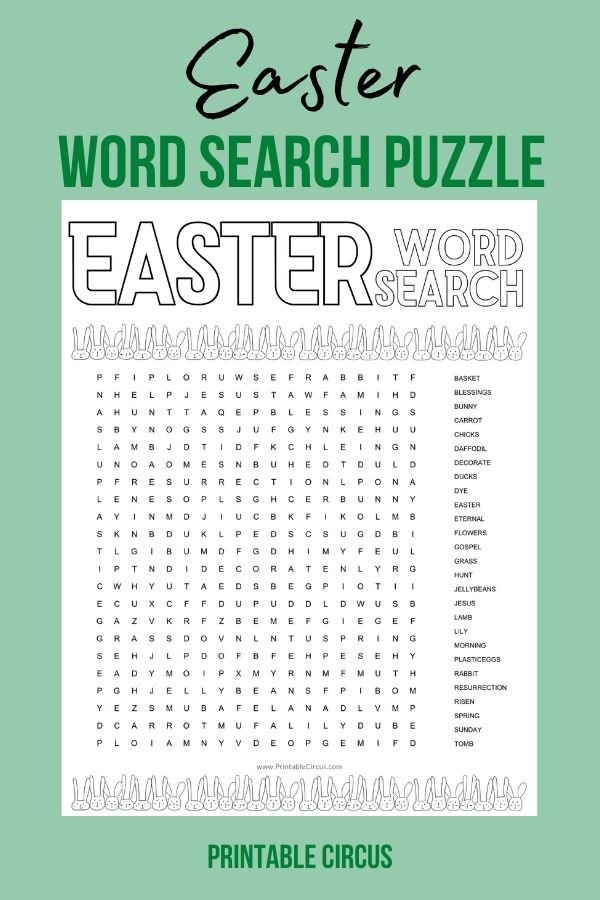 Grab this FREE printable Easter word search puzzle + coloring page that you can download and print off to play and enjoy right away. Fun printable PDF word search puzzle.