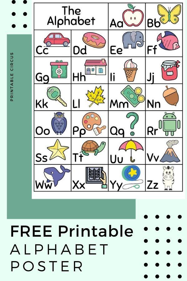 FREE Printable Alphabet Wall Art Posters