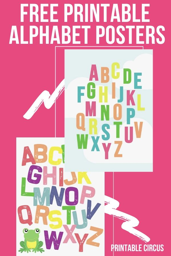 Free Printable Colorful Alphabet Posters