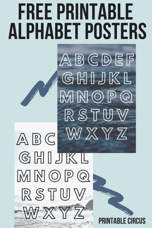 Free Printable Modern Ocean Alphabet Wall Art Posters