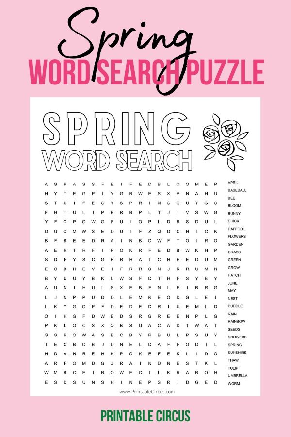 Grab this FREE printable Spring word search puzzle + coloring page that you can download and print off to play and enjoy right away. Fun printable PDF word search puzzle.