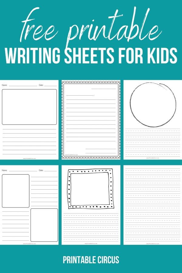 Download this FREE printable writing paper for kids - complete with 20 different style sheets, including dashed line for little kids and and regular line for older kids. Great for creative writing, handwriting practice, or writing stories and letters.
