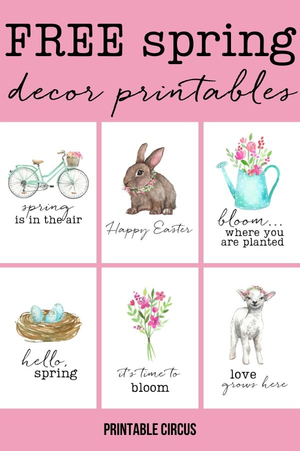 Brighten your home with these charming watercolor prints. Download and print these FREE spring decor printables.