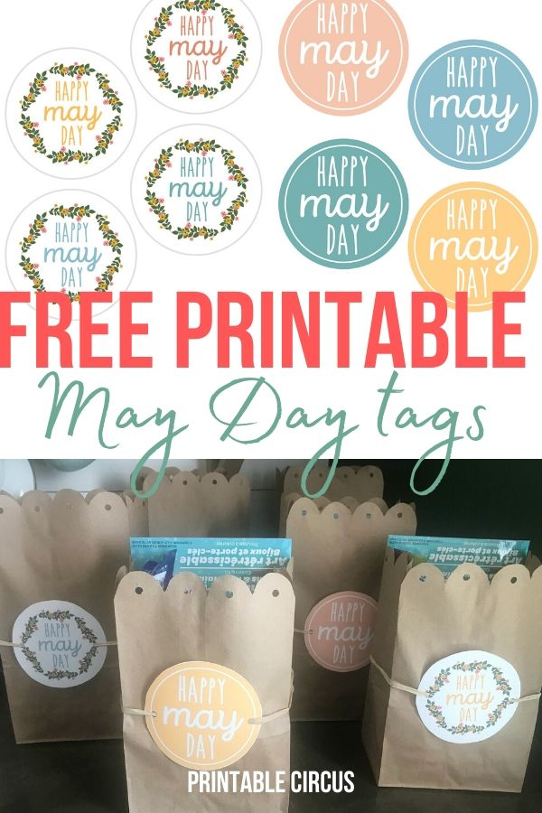 Grab these FREE May Day printable tags - they're in a handy PDF that you can print right away. Attach these gift tags to May Day baskets, flowers, or gift bags.
