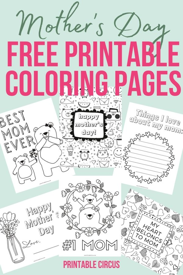 Grab these FREE printable Mother's Day coloring pages. They're in a handy PDF that you can easily print at home for the kids to color in for mom on her special day. Fun coloring sheets for mom.