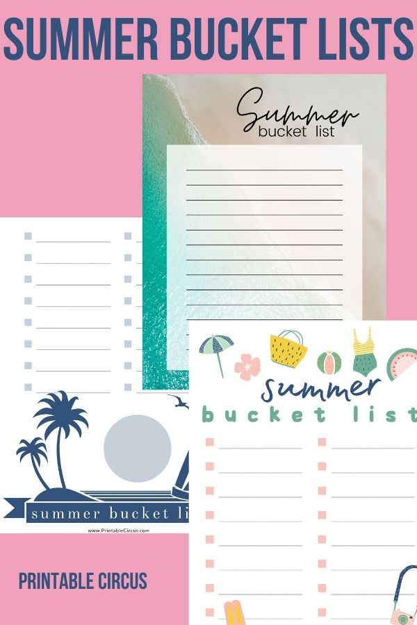 Plan an fun and memorable summer with these summer bucket lists. They come in three printable styles - just print and fill in with all the fun activities you want to do this summer.