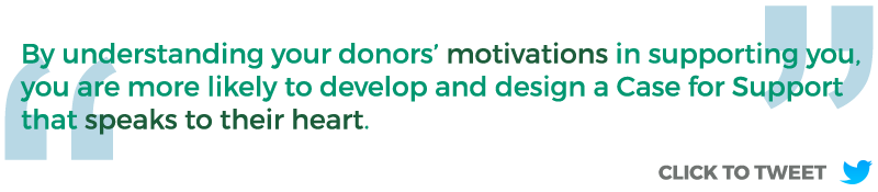 Case for Support - donor motivations