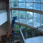 Atrium window washing