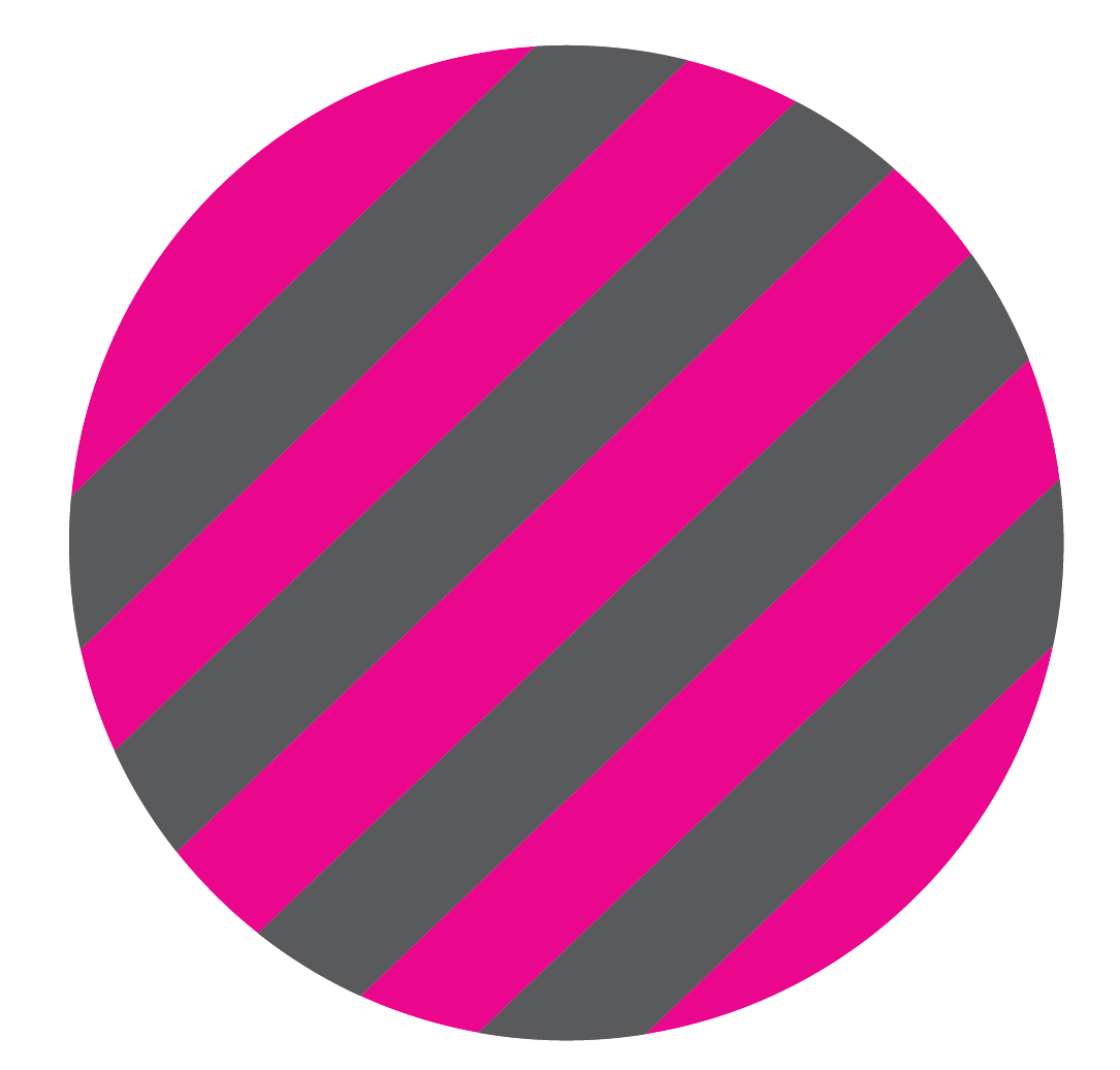 Pink and grey stripped circle
