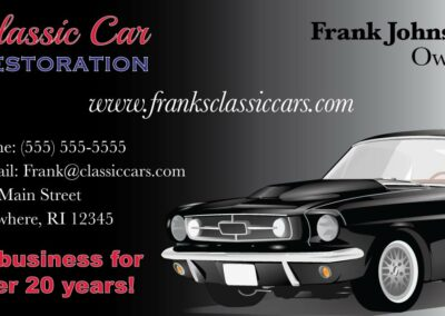 Classic Car Business Card