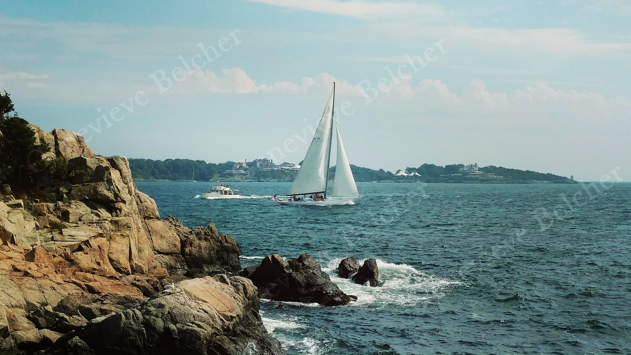 Sailboat at Fort Wetherill