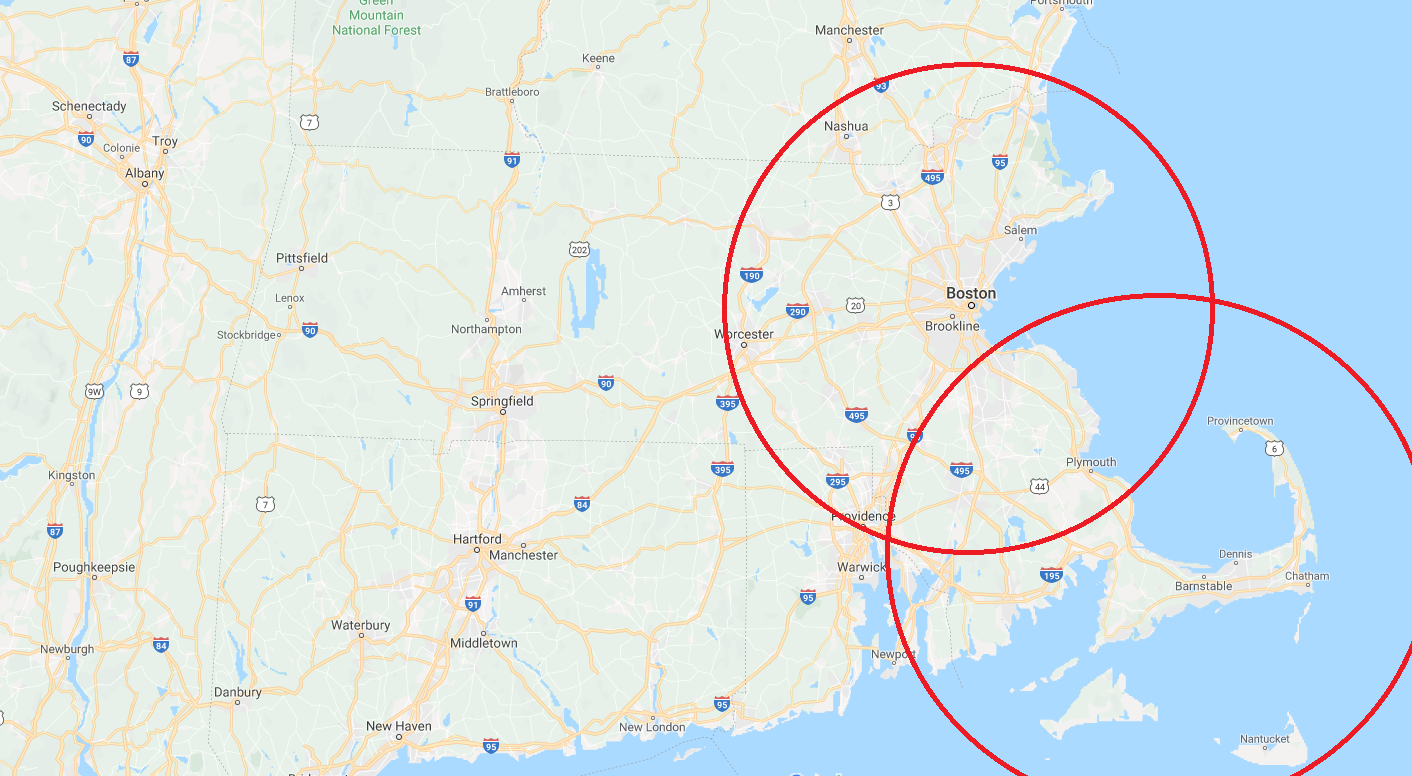 Massachusetts Service Map
