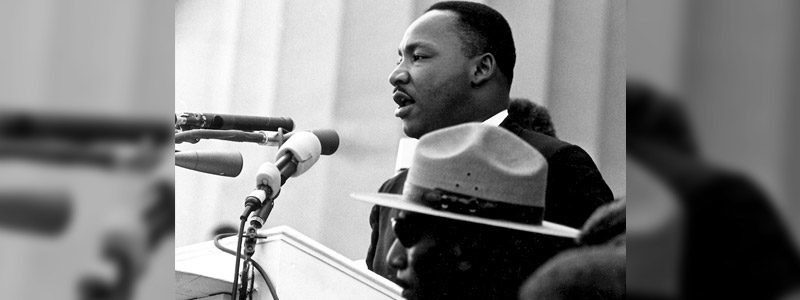 Martin Luther King Jr speaking