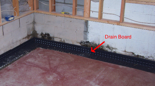 Drain board install