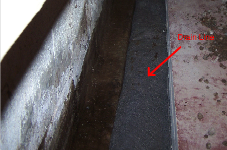 Drainline in trench