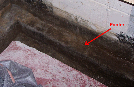 Exposed Footer for Drain System