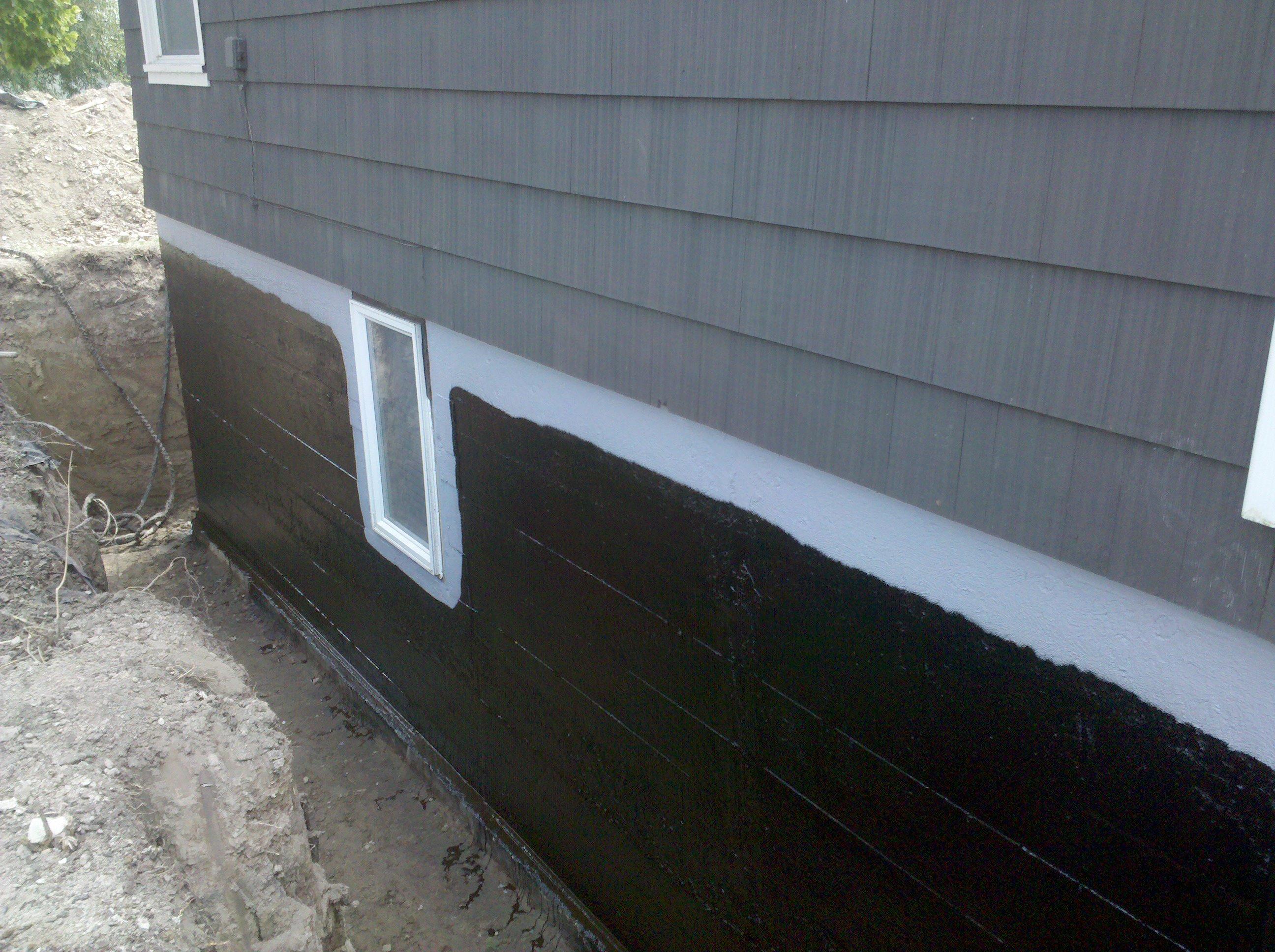 spray on foundation waterproofing