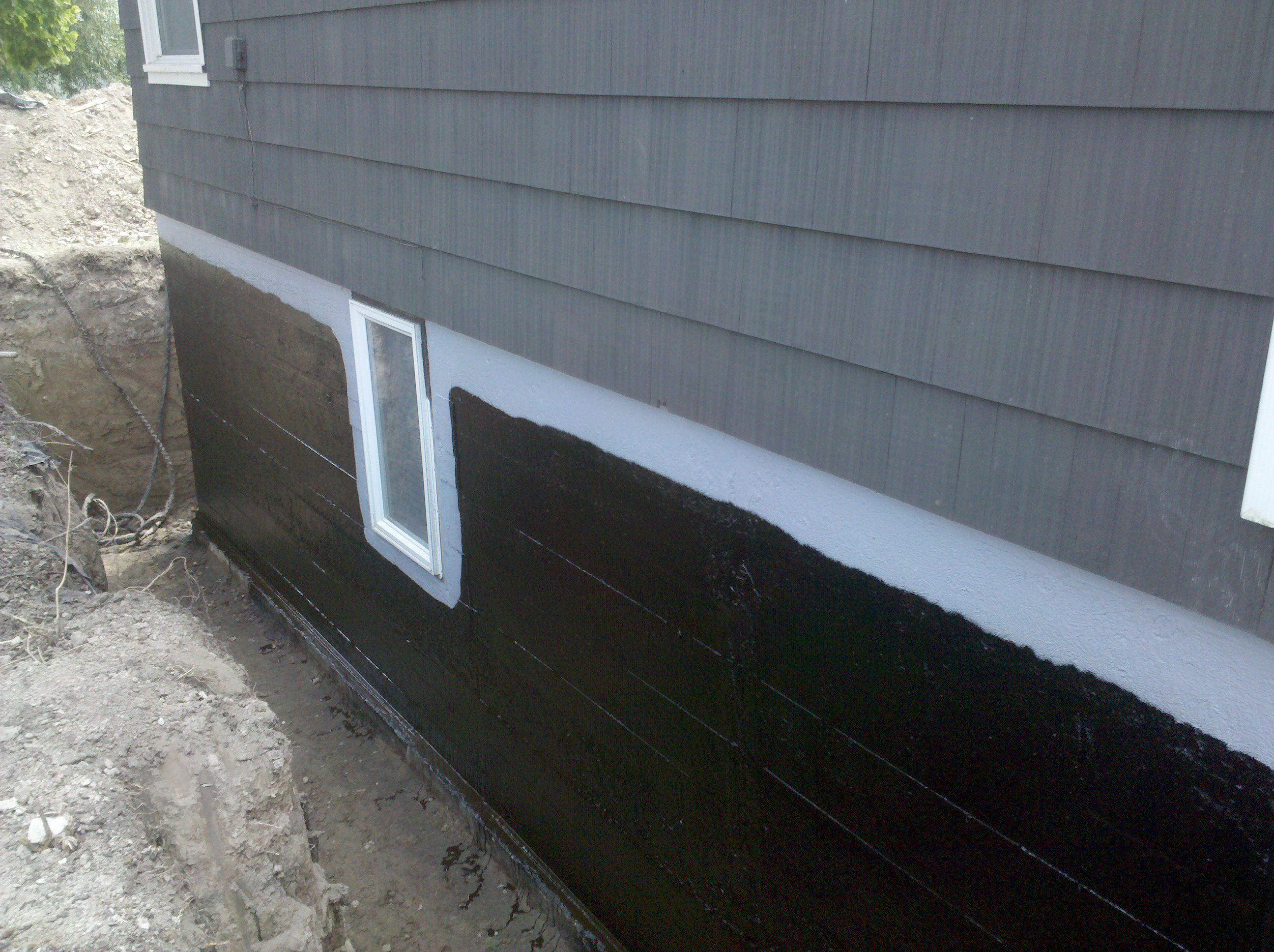 spray on foundation waterproofing
