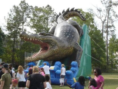 giant inflatable slide dual lane