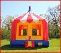 Carnival themed toddler moonwalk