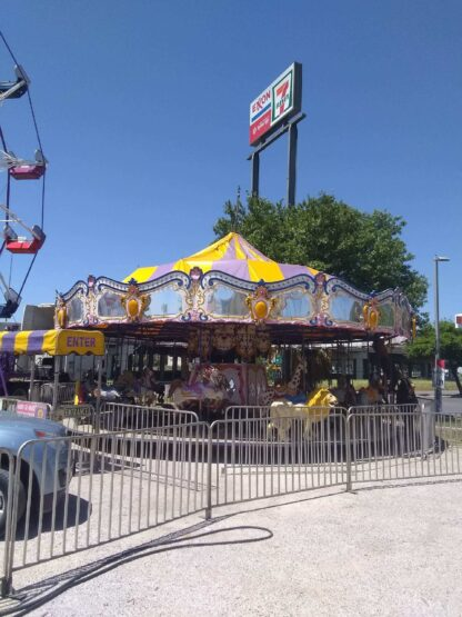 Large Carousel merry go round carnival ride