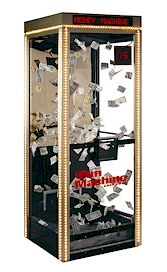 plexi-glass money machine rental houston