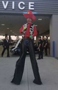 cowboy stiltwalker