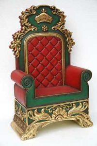 Santa chair throne rental