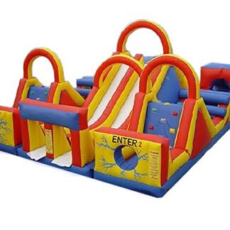 large obstacle course inflatable bounce house moonwalk