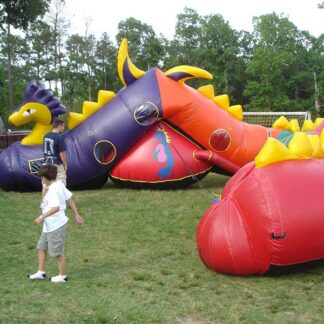 toddler snail obstacle course bounce house inflatable moonwalk