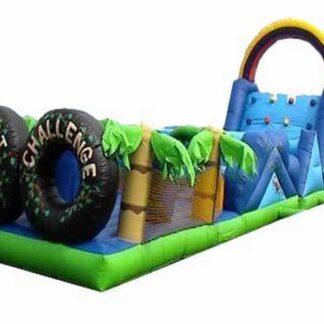 safari obstacle course inflatable bounce house moonwalk