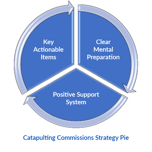 CATAPULTING COMMISSIONS STRATEGY PIE